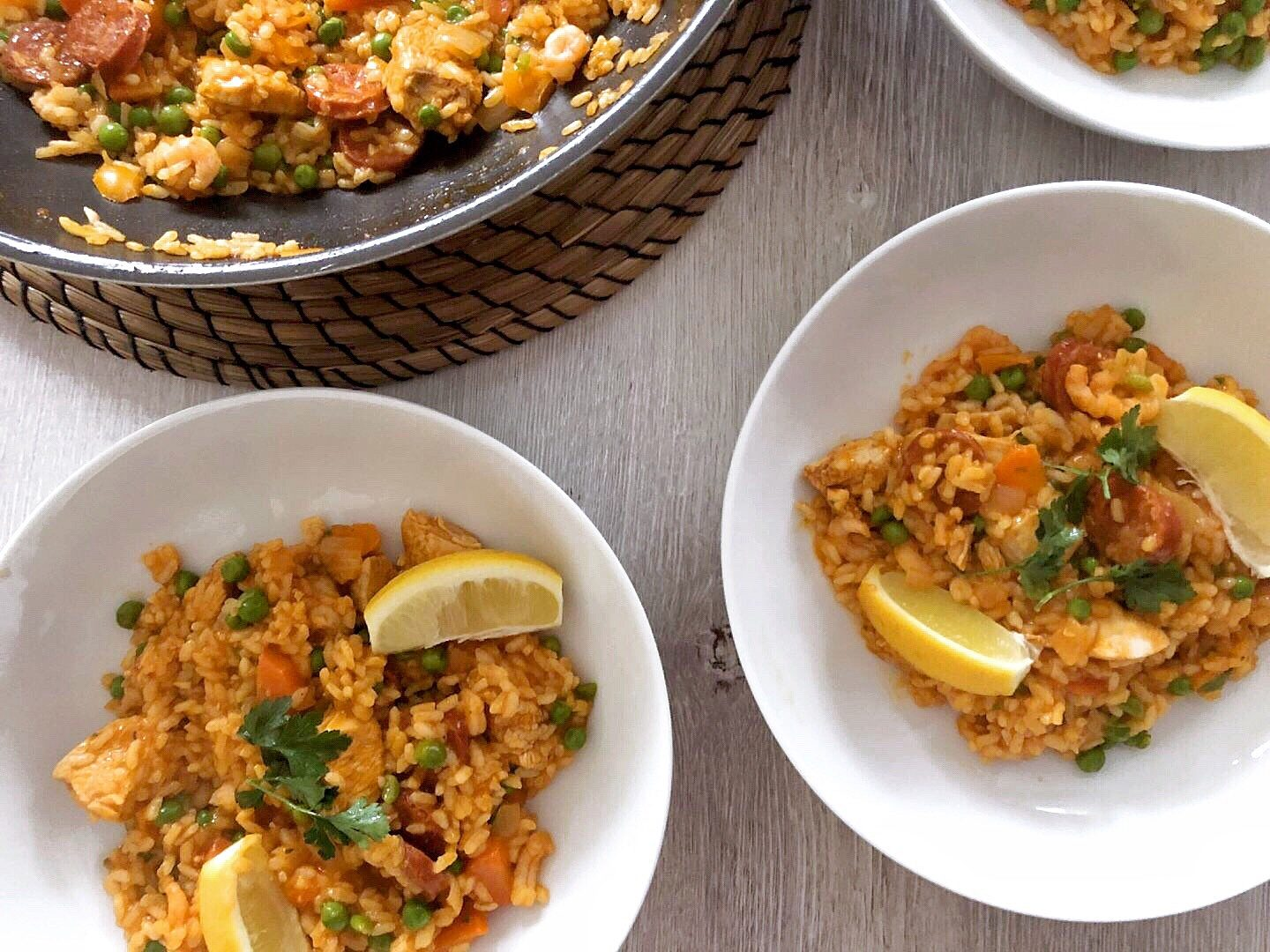Meat & Fish Paella Recipe