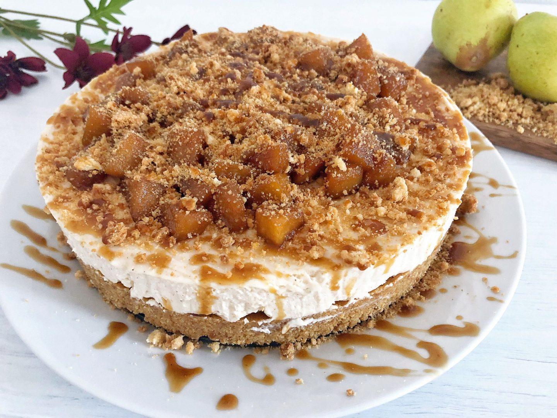 Pear crumble cheesecake recipe