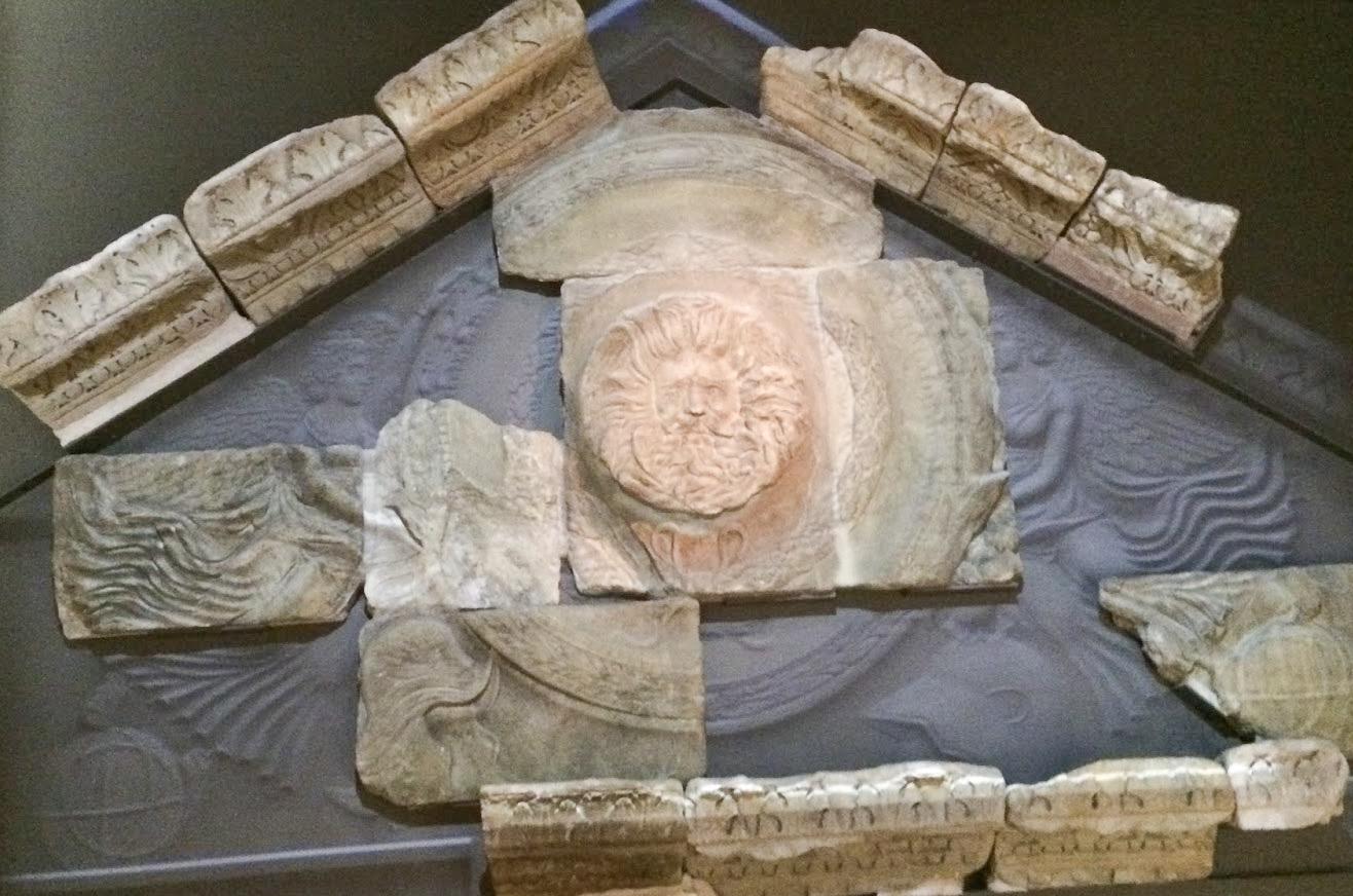 Artefact Roman Water God Head