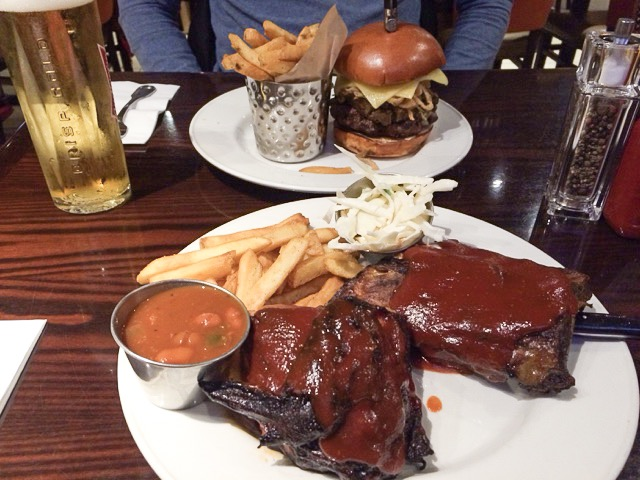 Food at Hard Rock cafe