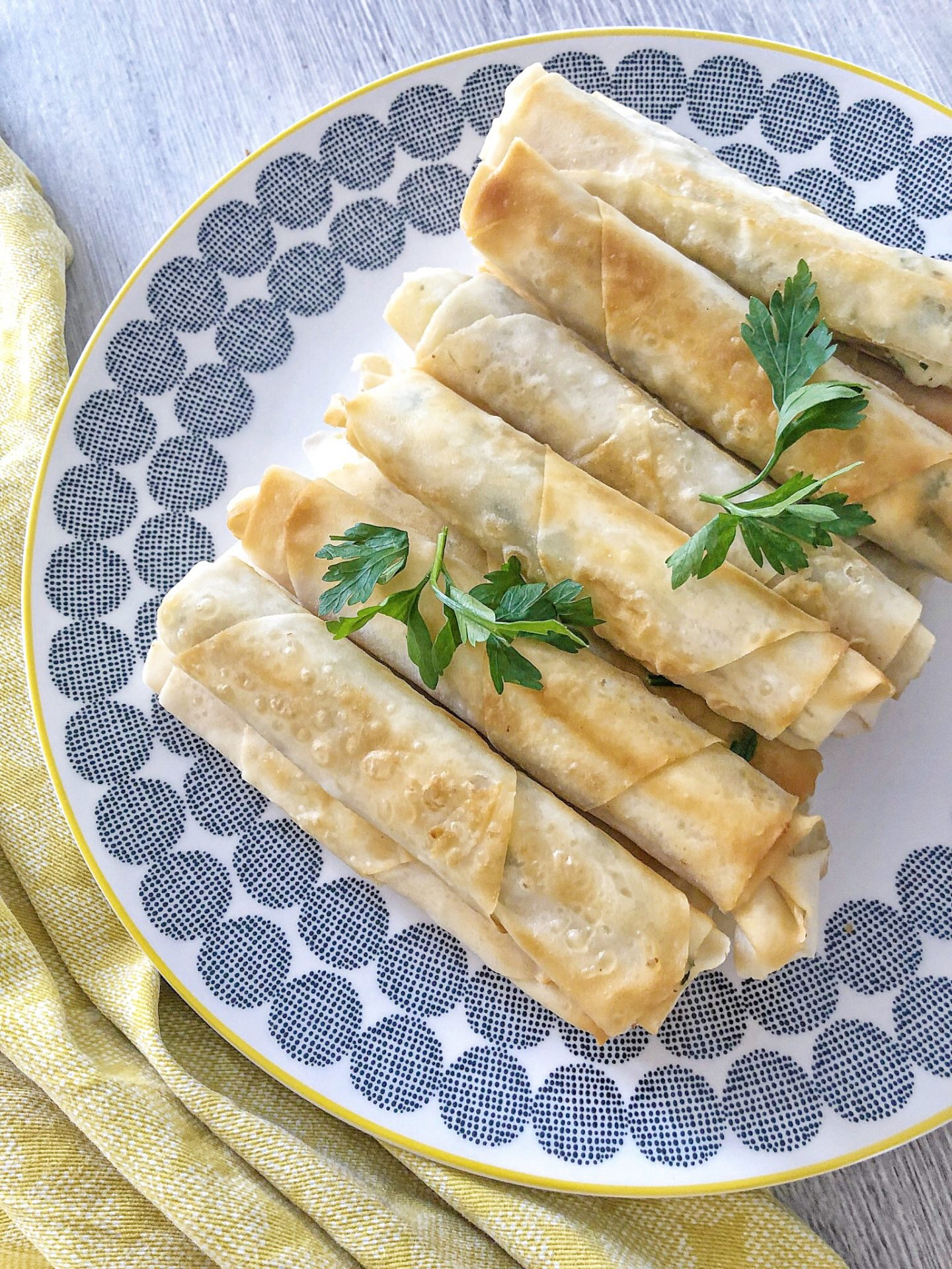 Turkish Cheese Pastry Rolls