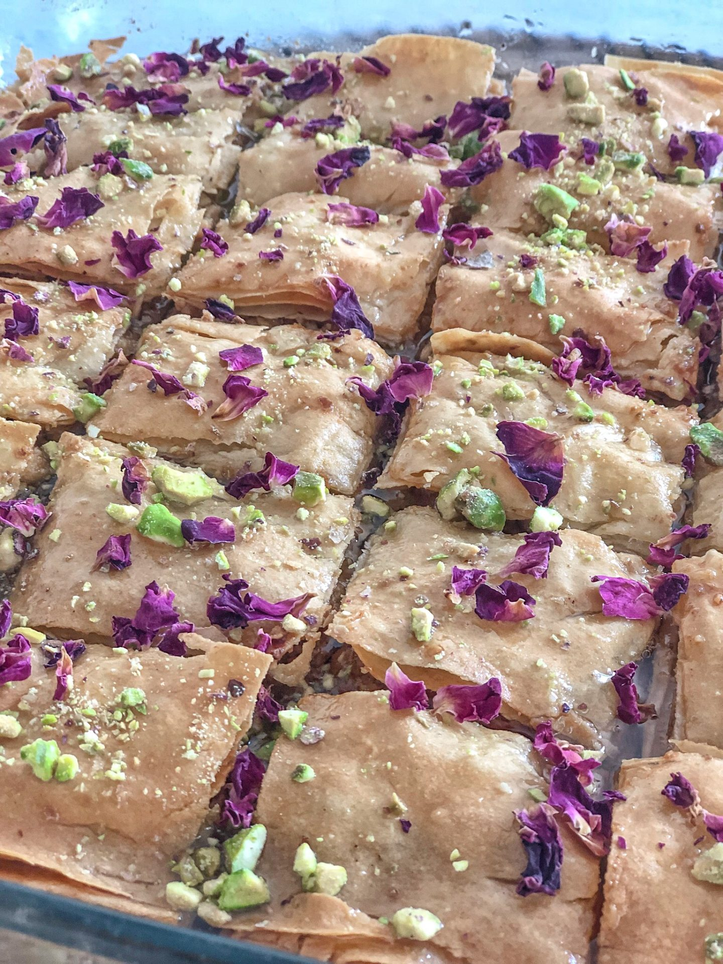 Homemade Macadamia Rose Baklava Recipe