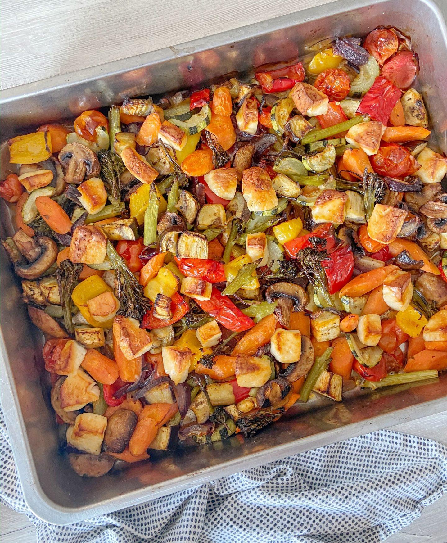 Vegetarian & Halloumi Tray Bake