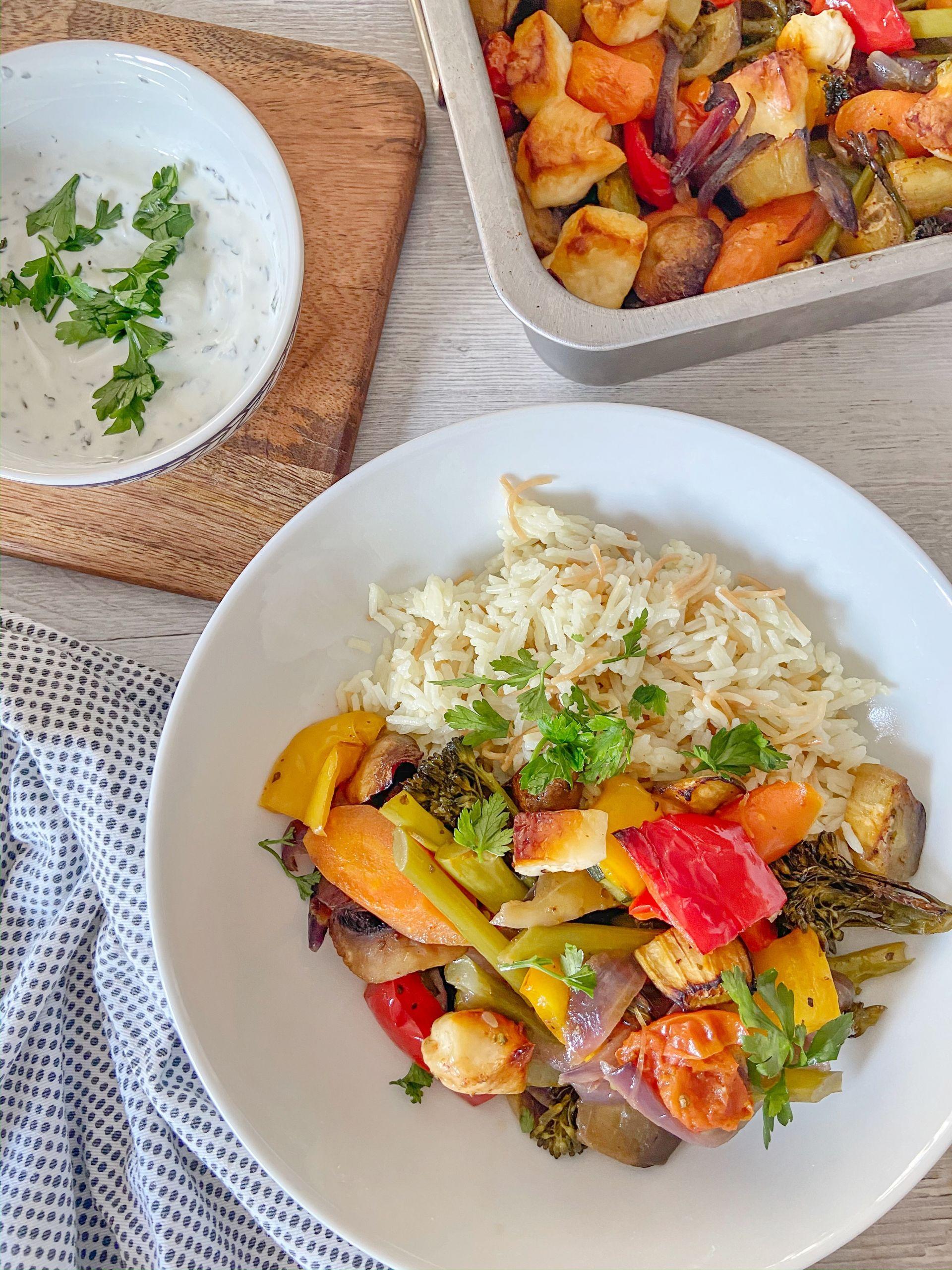 Vegetarian Tray Bake Recipe