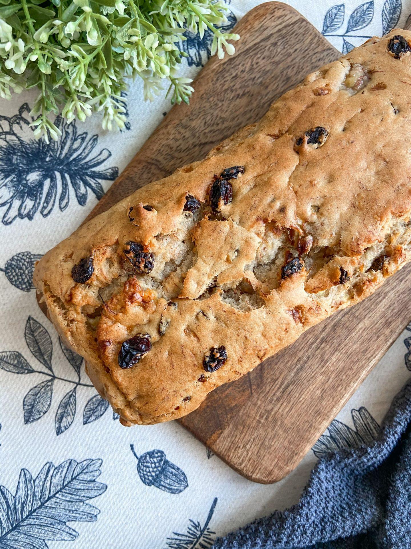 Vegan Banana and Sultana Bread Recipe