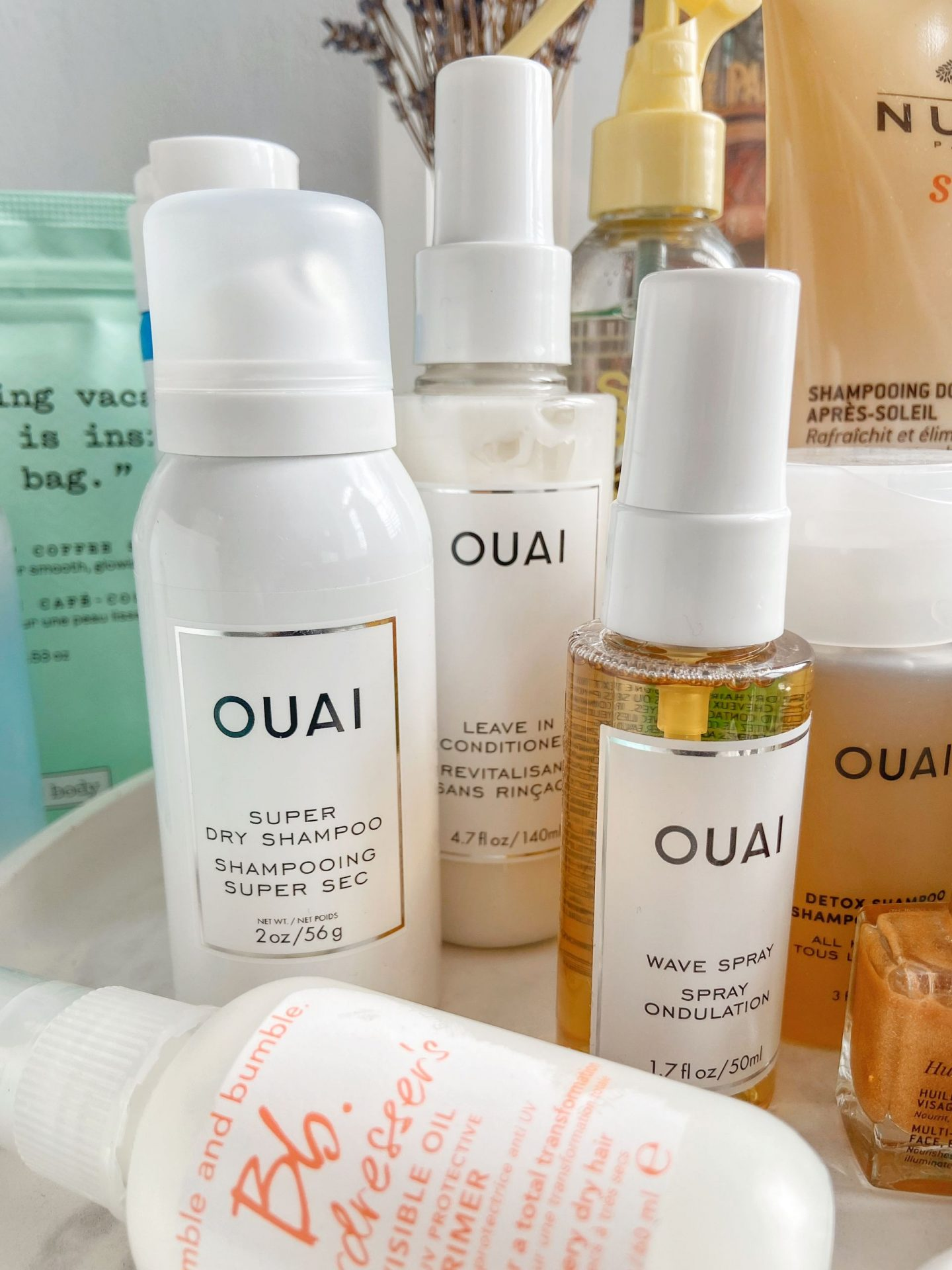 Ouai Hair Care Products Travel Kit