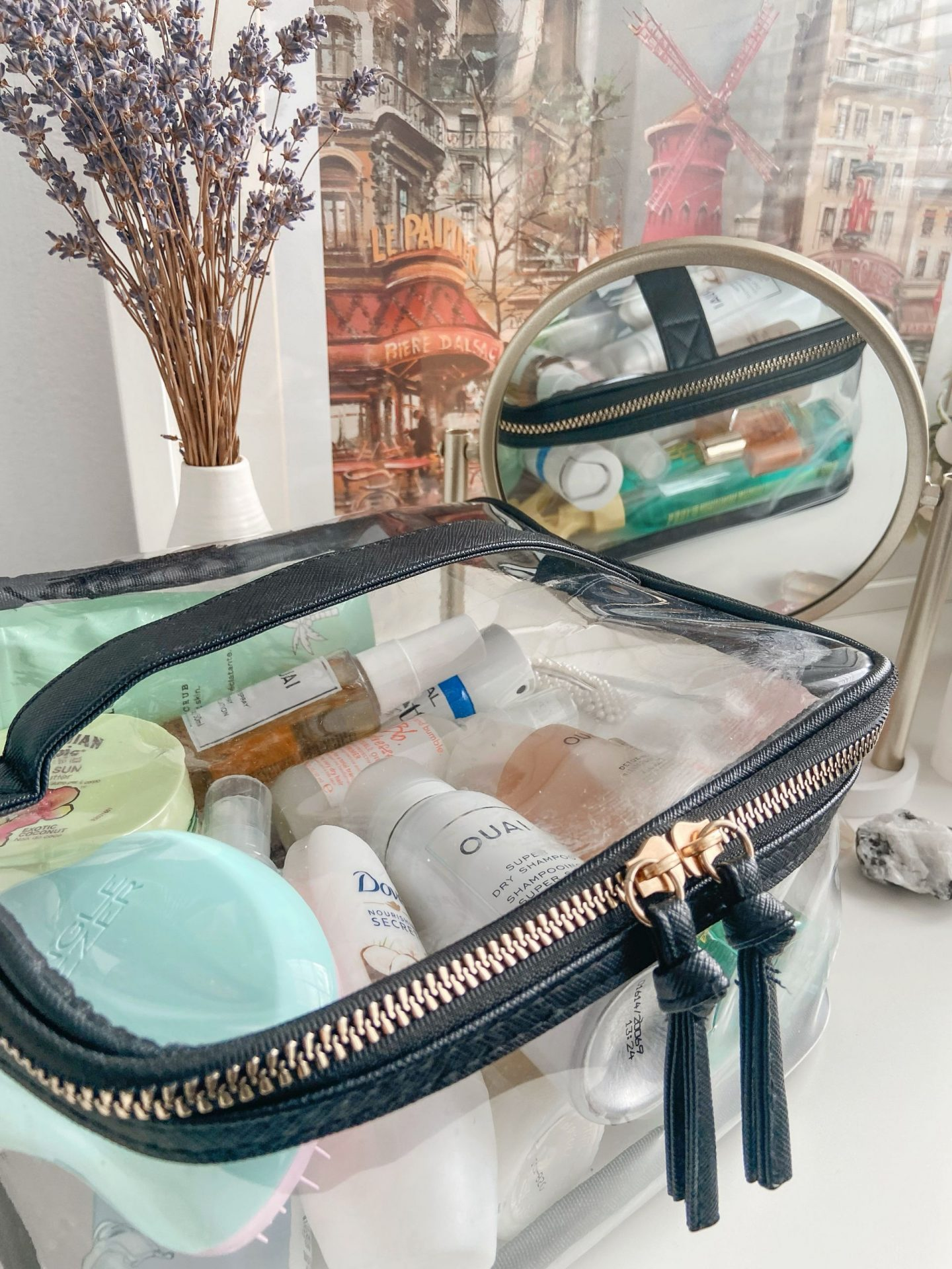 Clear Holiday Toiletry Bag